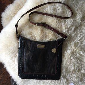 Brahmin Jody Crossbody Bag Melbourne Black  Brown
